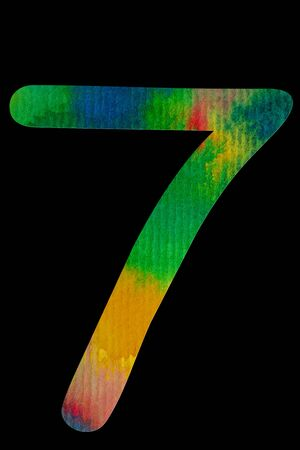 Number 0-9 on Water Color paper Stock Photo - 9375627