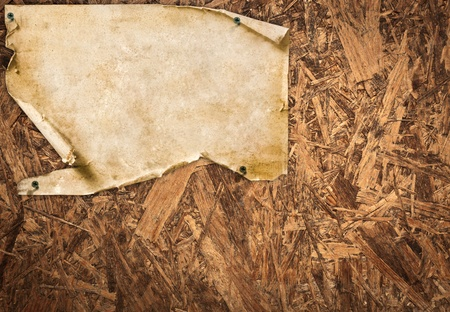 vintage paper on wooden wall texture photo