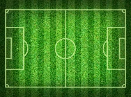 soccerfield: Echte groen gras voetbal veld achtergrond Stockfoto