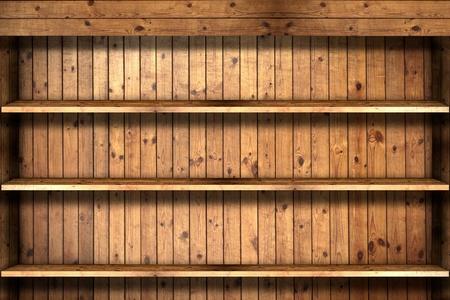 Wooden book Shelf  Stock Photo