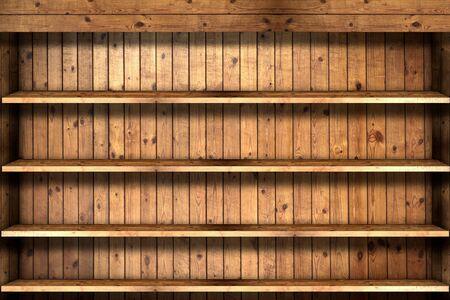 Wooden book Shelf  Stock Photo - 9520041