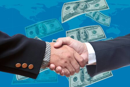 show business: Hand of business man Stock Photo