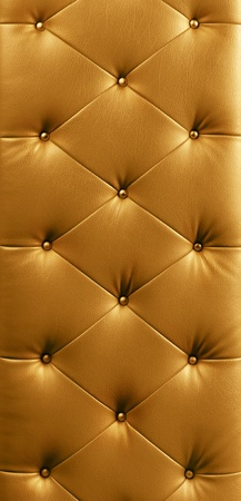 luxury gold button leather background Stock Photo - 9597077