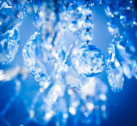 Chrystal chandelier close-up your your background photo