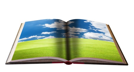 Magic book with Landscape view for your education meterial Stock Photo - 9646406