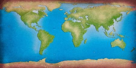 cartina del mondo: Mappa del mondo per lo sfondo di riciclare