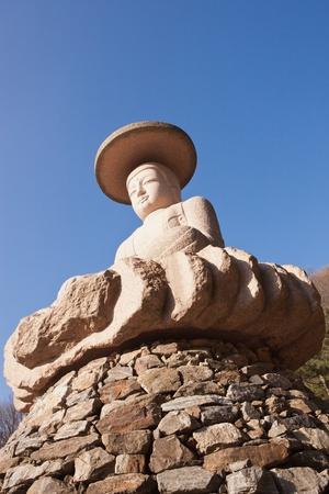 stone buddha: Korea stone buddha Stock Photo