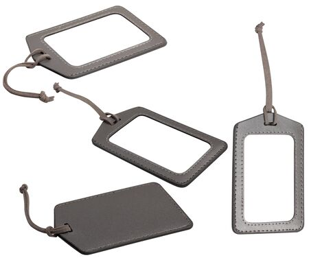 leather luggage tags photo
