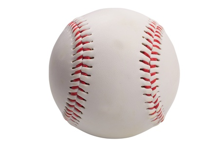 야구: isolated baseball on white background