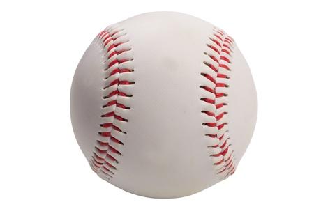 baseball game: isolated baseball on white background