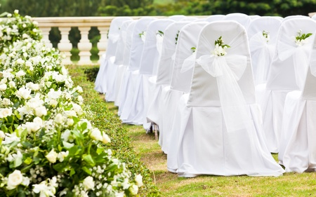 wedding vows: Tropical settings for a wedding on mountain Stock Photo