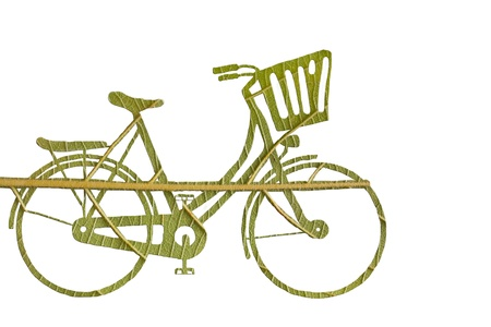 poison sea transport: Pushbike from green leave, eco concept