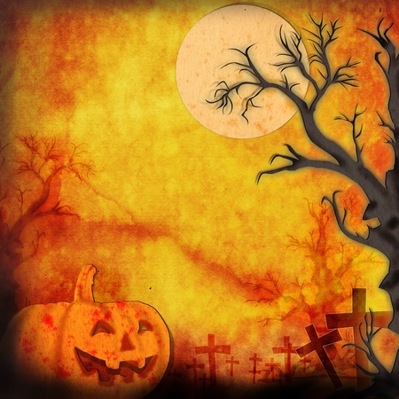 pumpkin head: Halloween background make for recycle paper