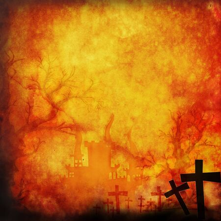 Halloween background make for recycle paper Stock Photo - 10558036