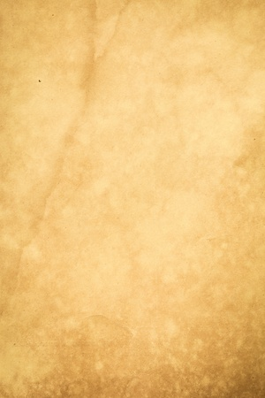 parchment: Backgrounds Paper Textured Old Parchment Textured Effect Retro Revival Old-fashioned Dirty Grunge Antique Brown Brown Paper Rustic Stained Run-Down Ancient Weathered Color Image Crumpled Rusty old paper Scratched Nostalgia Nobody Vertical Copy Space Handm Stock Photo
