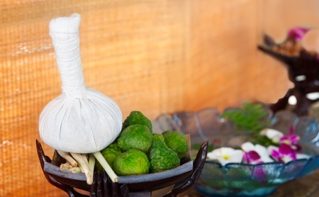 thai orchid: Herb ball and herbs for Thai spa  massage