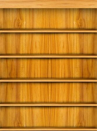 Wooden shelf for modern smart phone application photo