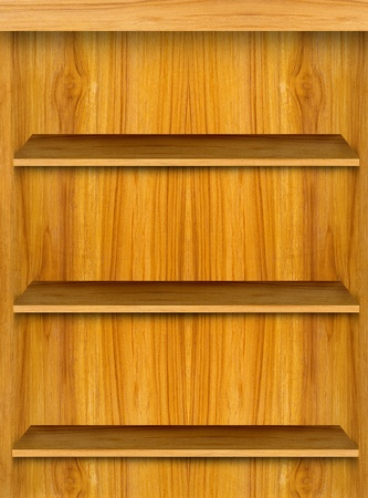 Wooden shelf for modern smart phone application Stock Photo - 10706832