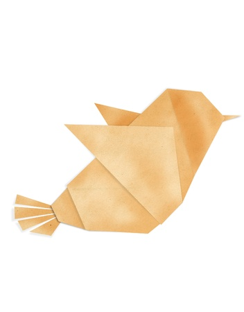 crane origami: origami birds make from recycle paper Stock Photo
