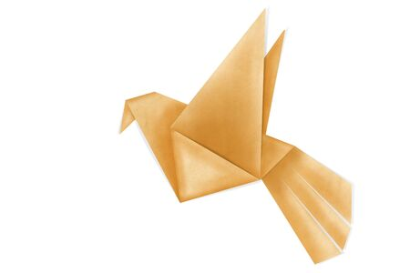 origami bird: origami birds make from recycle paper Stock Photo