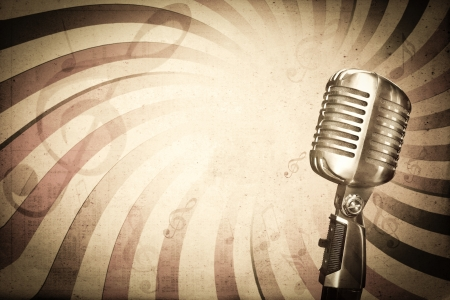 musik hintergrund: Retro Musik-Hintergrund