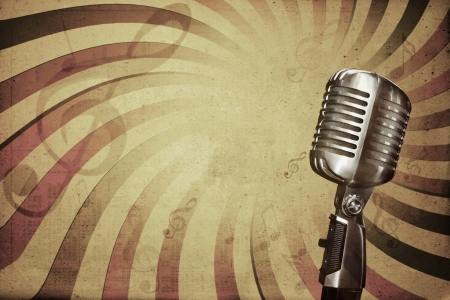 microphone retro: Retro music background