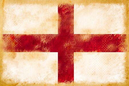 bandera inglaterra: Inglaterra bandera del grunge en el papel de �poca antigua