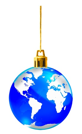 Crystal globe for christmas decorate photo