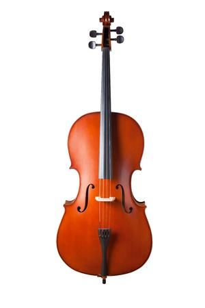 musical instrumen: Viol�n aislado sobre fondo blanco. con trazado de recorte