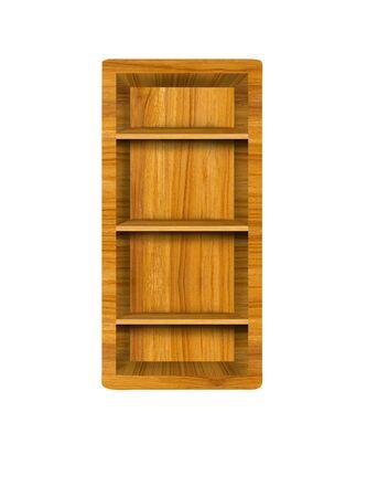 Wooden alphabet letter with shelf on white background,I photo