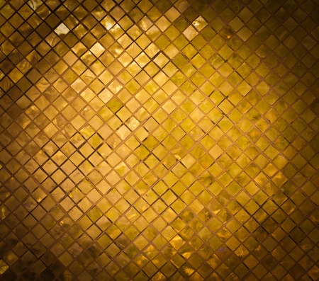 grunge golden mosaic, gold background photo