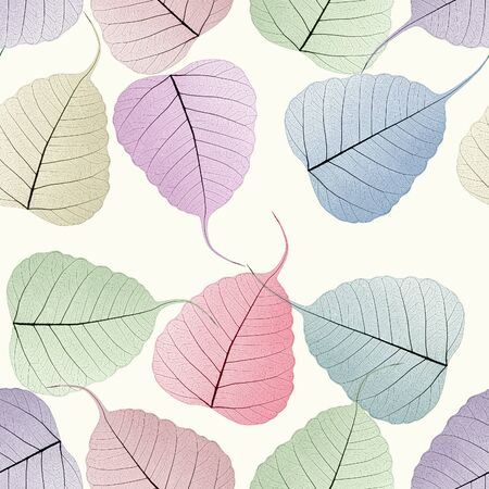 seamless colorful skeleton leaf background photo