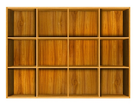 Wooden house shelf  photo
