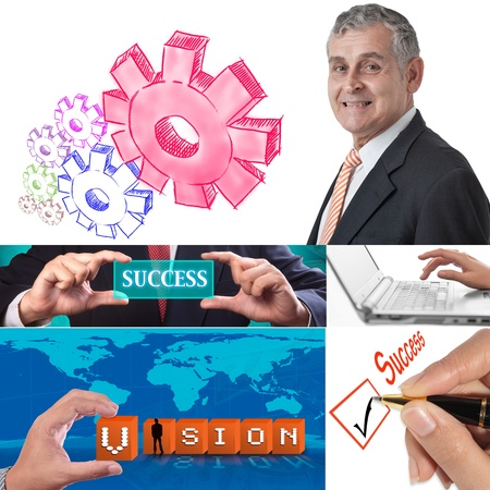 Business collage set of nine pictures Stock Photo - 12006421