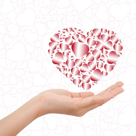 mutil love word in hand Stock Photo - 11964532