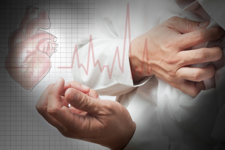 Heart Attack and heart beats cardiogram background Stock Photo - 12397031