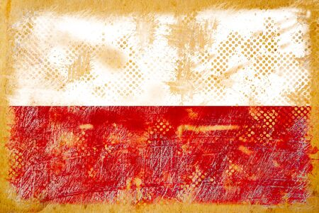 british flag grunge  on old vintage paper photo