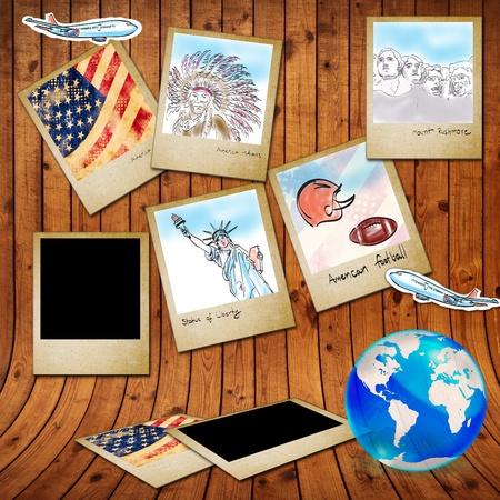 continente americano: la elaboración histórica de famouse de América en el marco de la foto