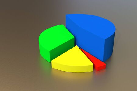 A colorful 3d pie chart graph    photo