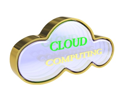 3D Cloud computing concept photo