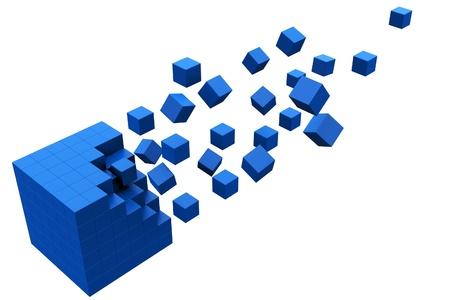 objetos cuadrados: Movimiento de cubo 3D