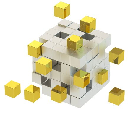 Golden cube move photo