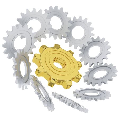 3D gears, Power of team concept  for business success abstract photo