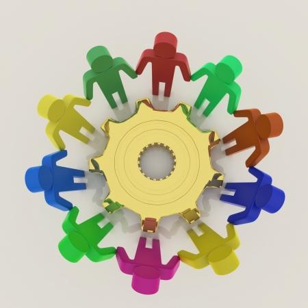 manos unidas: Team 3D, trabajan en conjunto el concepto con el equipo para el éxito Foto de archivo