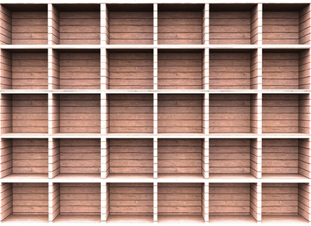 Wooden shelf for background Stock Photo - 13812152