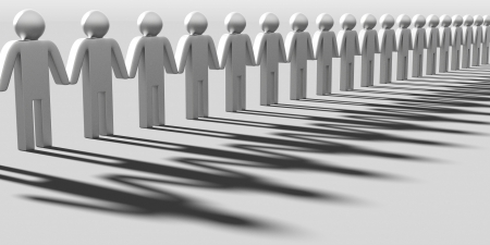 3d man: Teamwork concept Stock Photo