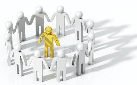 Teamwork concept, good leader Stock Photo - 13966638