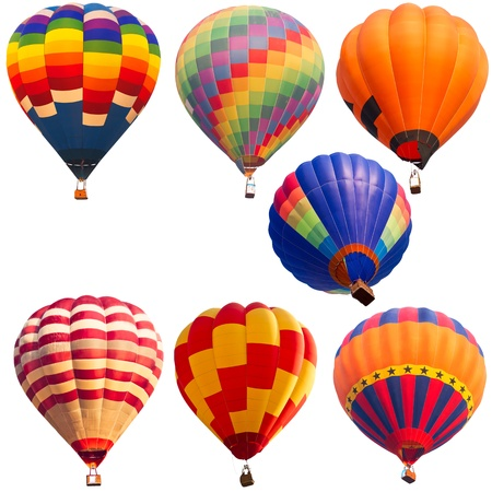 isolated collections of hot air balloon Stock Photo - 16459996