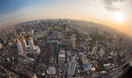 Top view city, Bangkok , Thailand photo