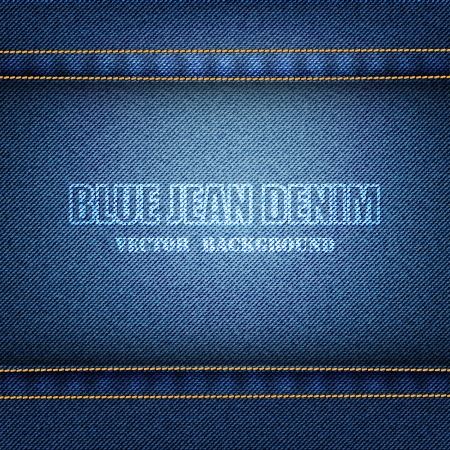 Blue Denim Texture Background Stock Photo